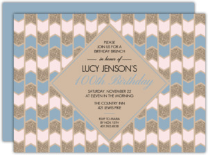 Taupe Texture 100th Birthday Invitation