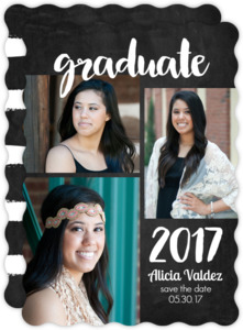 Chalkboard Graduation Save the Date Card