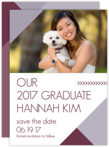 Modern Lavender Graduation Save the Date