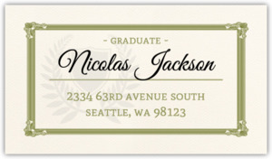 Matching Graduation Diploma Address Label