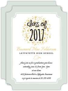 Confetti Frame Graduation Announcement