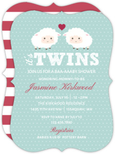 Twins Baby Shower Invitations Baby Shower Invites for Twins