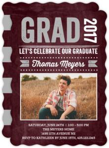 Bold Chalkboard Graduation Invitation