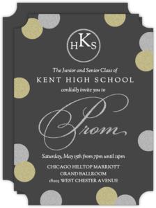 Faux Glitter Big Confetti Prom Invitation