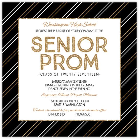 Prom Invitations Prom Invites – Send Party Invitations