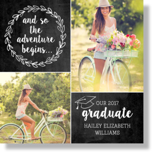 The Adventure Begins Graduation Canvas Print