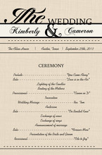 Western Love Wedding Program
