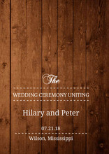 Wooden Picture Perfect Love Wedding Program