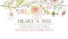 Spring Floral Border Address Label