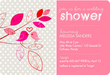 Whimsical Birds Couples Shower Invite
