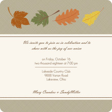 Fall Grunge Leaves Gay Wedding Invite
