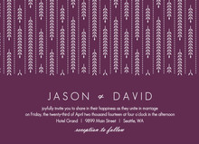 Hanging White Willow Gay Wedding Invitation