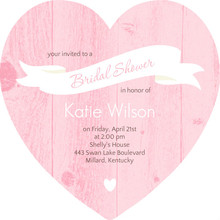 Pink Wood Grain Banner Bridal Shower