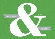 Green And Gray Modern Wedding Invitation