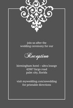 Gray and Elegant White Flourish Enclosure Card