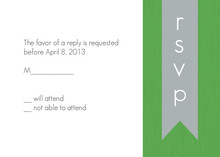 Green and Gray Modern Response Card