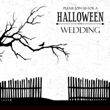 Haunted House Halloween Wedding Invite