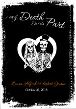 Skeleton Heart Wedding Invitation
