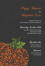 Regal Halloween Wedding Invitation