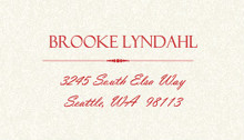 Red Flowers Winter Holiday Wedding Address Label