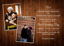 Wooden Picture Perfect Love Wedding Invitation