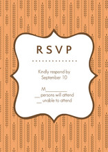 Fall Wheat Orange and Brown Response Card