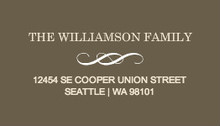 Brown and Cream Modern Address Label