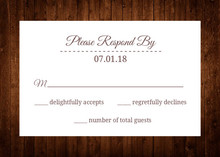 Wooden Picture Perfect Love Response Card