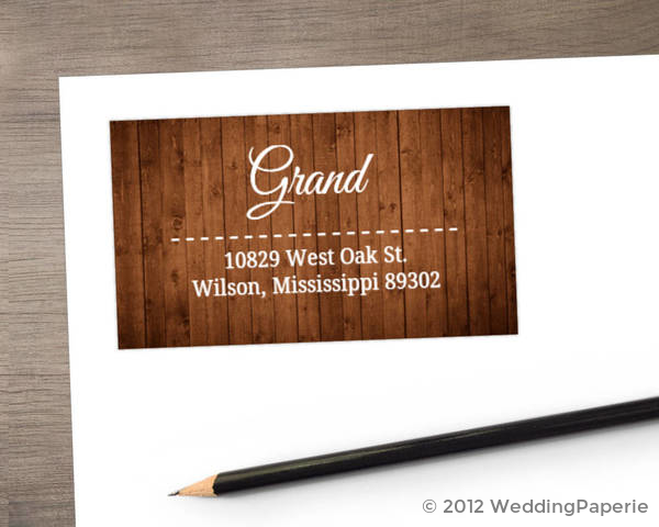 Wooden Picture Perfect Love Address Label