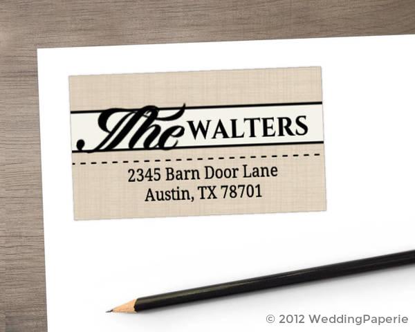 Western Love Address Label