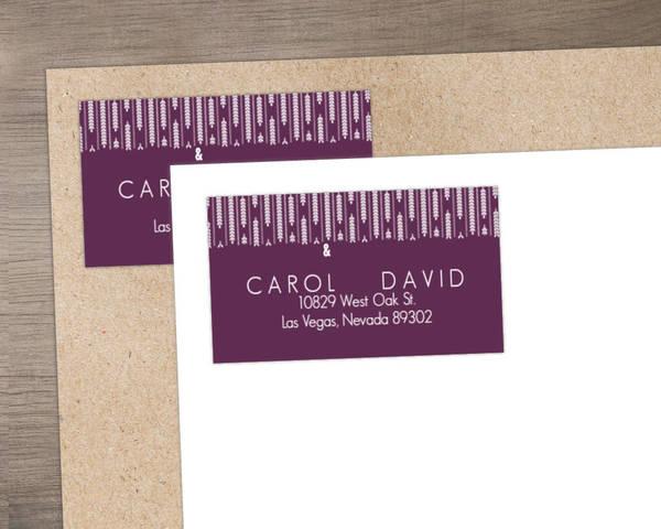 Hanging White Willow Address Label