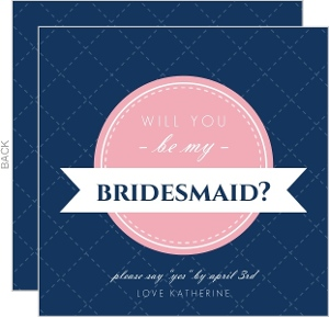 Navy pink modern banner will you be my bridesmaid  1164 61741 0 big