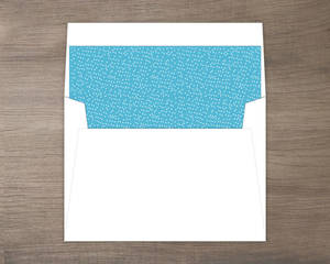 Blue Watercolor Hot Air Balloon Envelope Liner