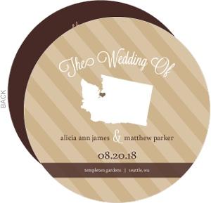 Modern Statement Wedding Program