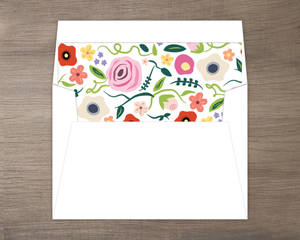 Bright Blossoms Small Envelope Liner