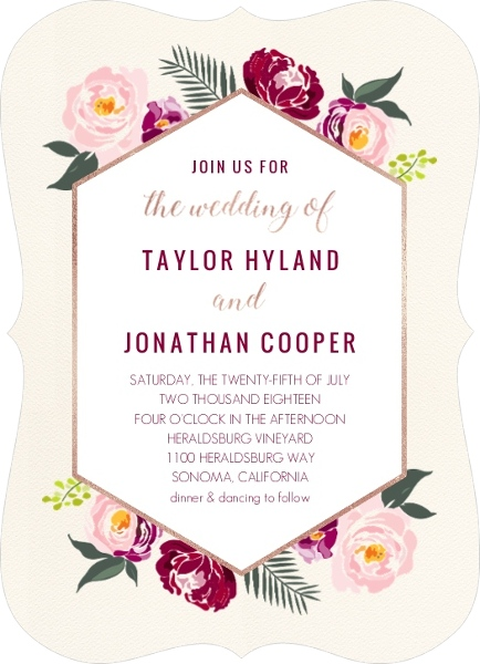 Tangerine and White Modern Stripes Wedding Invitation