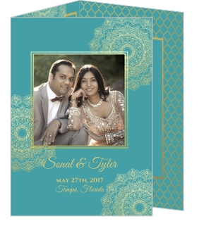 Bright Mandala Faux Gold Wedding Invitation
