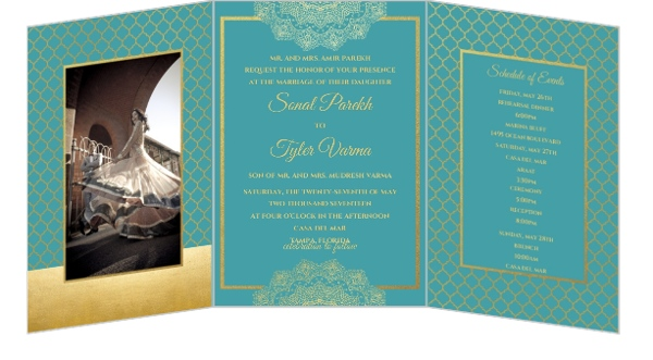 Bright Mandala Faux Gold Wedding Invitation