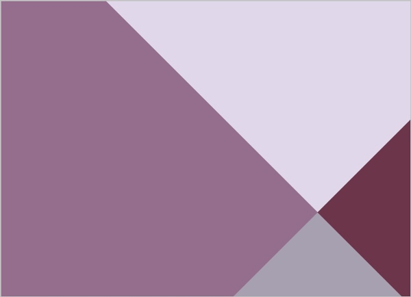 Modern Geometric Lavender Wedding Invitation