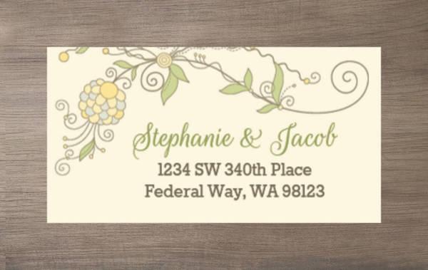 Whimsical Summer Floral Custom Address Label