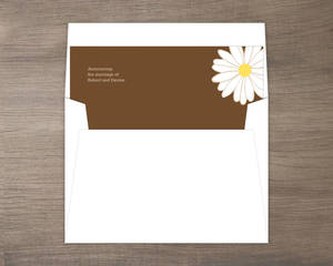 Classic Yellow Flower Envelope Liner