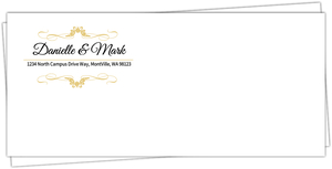 Elegant Wine Bottle Custom Envelope