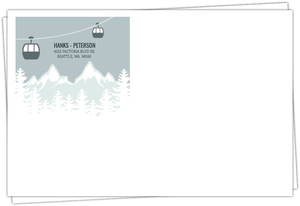 Scenic Winter Mountain Custom Envelope