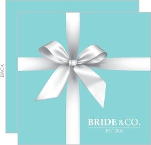 Elegant Teal Gift Bridal Shower Invitation