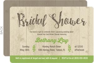 Brown Rustic Woods Bridal Shower Invitation
