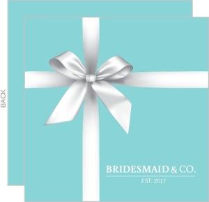 White Ribbon Will You Be My Bridesmaid Card