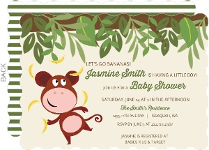 Monkey Go Bananas Baby Shower Invitation