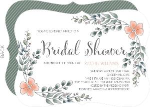 Eucalyptus Leaves Bridal Shower Invitation