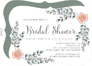 Eucalyptus Leaves Bridal Shower Invitation