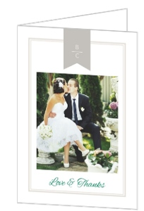 Bold Stripes Classic Wedding Thank You Card